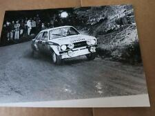 FORD - ESCORT mk2 RS1800 RS 1800 Bjorn Waldegard - PRESS MEDIA PHOTOGRAPH