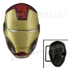 Cool Super Hero IRONMAN Iron Man Mask Removable Metal Belt Buckle Gold #01