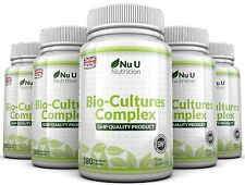 Nu U Probiotics 5 BOTTLES 10 Billion Forming CFU's yeast infections leaky gut
