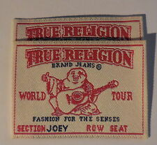 True Religion Brand Jeans Sew On PATCHES Tag Label Set of 2 - New