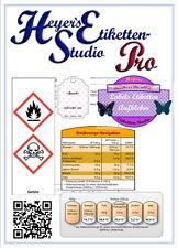 GS1 Datamatrix Etiketten preiswerte Software Transportsymbole QR-Code Barcode