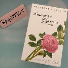 CRABTREE & EVELYN ROSEWATER GLYCERINE BAR SOAP NEW & BOXED 3.5 OZ LADIES