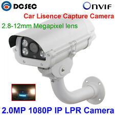 2.0MP Car Number Recognition Capture 1080P ANPR LPR IP Camera with 2.8-12MM Lens