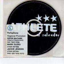 (EG98) Athlete, El Salvador - 2003 DJ CD