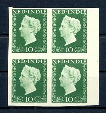 NED INDIE 1948 # 345 IMPERF PROOF 4 x -CERTIFICAAT-NO GUM AS ISSUED ALMOST VF