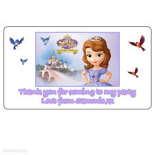 Personalised Sofia the First Birthday Thank You Party Address Stickers-N165