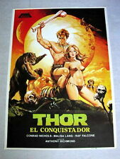 THOR THE CONQUEROR Original FANTASY Movie Poster CONRAD NICHOLS Sexy MALISA LANG