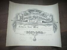 HIGH SCHOOL OF BELLWOOD PENA GRAND DIPLOME 1906