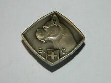 broche INSIGNE Broche Argent 0,925 HUGUENIN HF B.C chien SUISSE chien DOG hund