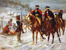 """George Washington At Valley Forge Painting Large 12.2""""x 16"""" Real Canvas Print"""