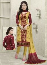 Radiant Cotton Embroidered Salwar Suit Dress Material D.NO NKT1141