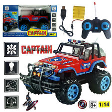 1:14 MARVEL CAPTAIN AMERICA ELECTRIC RC RADIO REMOTE CONTROL 4WD CAR KID BOY TOY