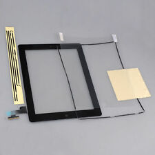 Black Touch Glass Screen Digitizer + Home Button Assembly For iPad 2 +Frame+Film