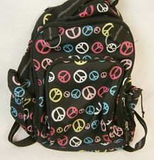 Company Kids Explorer Toddler Backpack Peace Signs Black NWD 96S 78026B