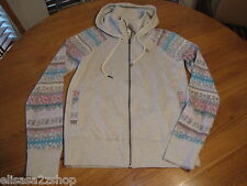 Element Juniors Womens XS Long Sleeve Stone Zip Up Hoodie Jacket surf  NWT^^