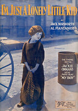 """MY BOY Sheet Music """"I'm Just A Lonely Little Kid"""" Jackie Coogan"""