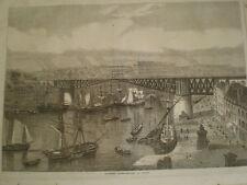 The Monster Swing Bridge at Brest France 1861 old print