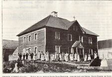 CANADA PRINCE ALBERT ECOLE MISSION ST JEAN BAPTISITE SCHOOL IMAGE 1908 OLD PRINT