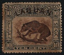 LABUAN 1922 10c Sun Bear Isc#106 - Unused NO GUM/TONED/FAULTS @S3985
