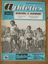 ATHLETICS WEEKLY MARCH 6th 1976 IAAF CROSS COUNTRY CHAMPIONSHIP