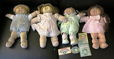 Vintage Cabbage Patch Doll Lot of 4 Original Clothes  2 boys 2 girls Circa 1982