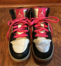 Nike Air Jordan Black, Pink & White Athletic Sneakers ~ 2013 ~ Boy's Youth 5