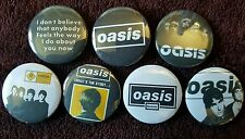 Oasis Button Badges x 7. Pins. Collector. Bargain :0)
