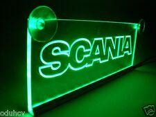 12V Green LED Interior Cabin Light Plate for SCANIA Truck Neon Table Sign Lamp