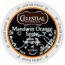 Celestial Seasonings Mandarin Orange Spice Herbal Tea Keurig K-Cups 48-Count
