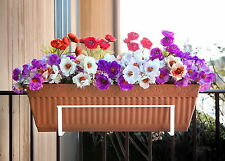 """New Planter Box Holder for Deck Rail Hanging Flower Box Fits 18"""" to 36"""" Planter"""