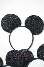 12pcs Minnie-Mickey Mouse Ears Headband Sparkle Shimmer Party Favors Lot Theme
