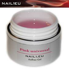 "PROFESIONAL UV Gel de Construcción rosa brillo ""NAIL1.EU Universal"" 30ml Builder"
