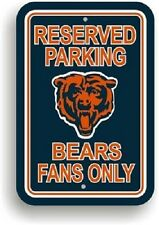 NFL Chicago Bears Plastic Reserved Parking Sign