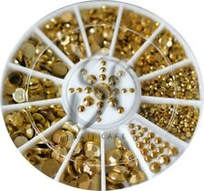 Diamante FACET Oro Nail Art Strass pietre nel Rondell 1,5mm; 2mm; 3mm; 4mm; 5mm