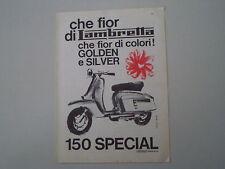 advertising Pubblicità 1965 LAMBRETTA 150 SPECIAL