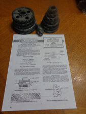 Atlas #6818 metric thread gears & all parts for 10,12 atlas craftsman QC lathes