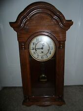 Vintage Howard Miller Pendulum Wall Clock Western Germany Chimes 341-021A