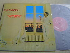 "F.R. DAVID(KOREA VINYL LP 12"")9TRACKS WORDS 1982 pressing 33RPM italo/euro disco"