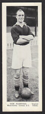 Topical Times - Miniature Panel Portraits 1937 - Tom Bamford - Manchester United