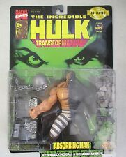 MOC 1997 TOY BIZ THE INCREDIBLE HULK TRANSFORMATIONS ABSORBING MAN ACTION FIGURE