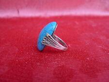 Beau, vieil anneau __ indien bijoux __ Navajo __ sterling argent __ turquoise ___!
