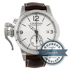 Graham Chronofighter 1695 2CXAS.S02A.L23S Auto 42mm Steel Strap Watch Date Tang