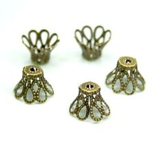 Antique bronze filigree bead cap - approximately 100 pcs