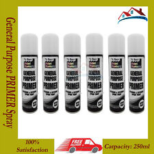 6 X General Purpose PRIMER Spray Paint Interior Exterior Wood Metal DIY White