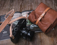 Handmade Brown Italy Goatskin Case Bag for Leica Q M240P M240 Olympus OMD Camera