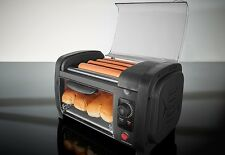 Hot Dog Roller Maker Machine Sausage Bread Bun Warmer Commercial Countertop
