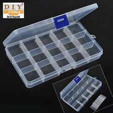 15 Slot Compartments Plastic Box Jewelry Bead Storage Container Craft Organizer4
