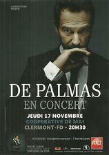 FLYER PLV - DE PALMAS EN CONCERT LIVE 2016 A CLERMONT FERRAND - COOP. DE MAI