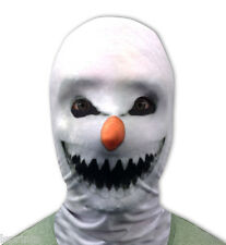 DEMON SNOWMAN 3D EFFECT FACE SKIN LYCRA FACE MASK GRIM REAPER SCARY HALLOWEEN