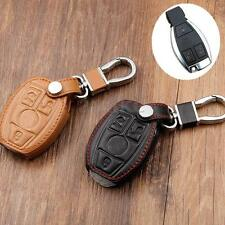 Remote 3 4 Buttons C E PU Leather Smart Key Cover Case Holder For Benz Mercedes